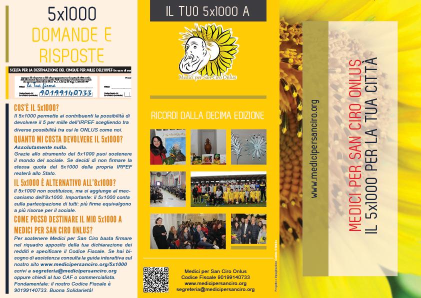 Volantino Campagna 5x1000 Medici per San Ciro Onlus